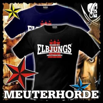 T-Shirt - Elbjungs * MEUTERHORDE * Schwarz   L