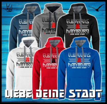 Kapuzensweatshirt - Elbdeerns * ♥ deine Stadt *