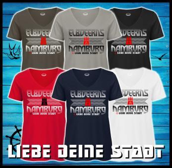 Damenshirt - Elbdeerns * ♥ deine Stadt *